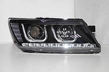 Штатная 2009 по 2014 год для Dodge Journey Fiat Freemont LED U Angel Eye передняя оптика, фото 3