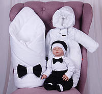 Зимний набор для новорожденных на выписку Classic Boy (6 предметов), фото 1