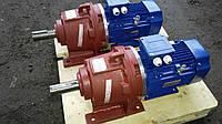 Мотор - редуктор 3МП 40 фланцевый - 3,55 об/мин с эл. двиг. 0,18/1000