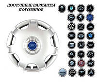 """Колпаки SJS (Турция), 14"""" 205 Seat/VW (к-т 4 шт) + эмблема на выбор"""