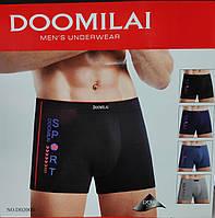 Мужские трусы боксеры хорошего качество DOOMILAI хл синие, фото 1