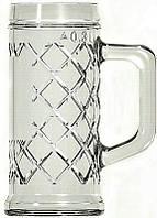 """Бокал кружка для пива стеклянная  Uniglass 300 мл """"RHOMBUS"""""""