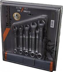 Набор ключей рожково-накидных CRV DIN 3113 15шт(6,7,8,9,10,11,12,13,14,15,16,17,18,19,22мм) в брезенте