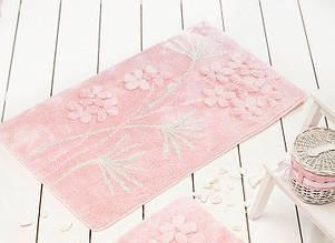 Набор ковриков  для ванной комнаты ALESSIA набор (2 предмета). Розовый с цветами