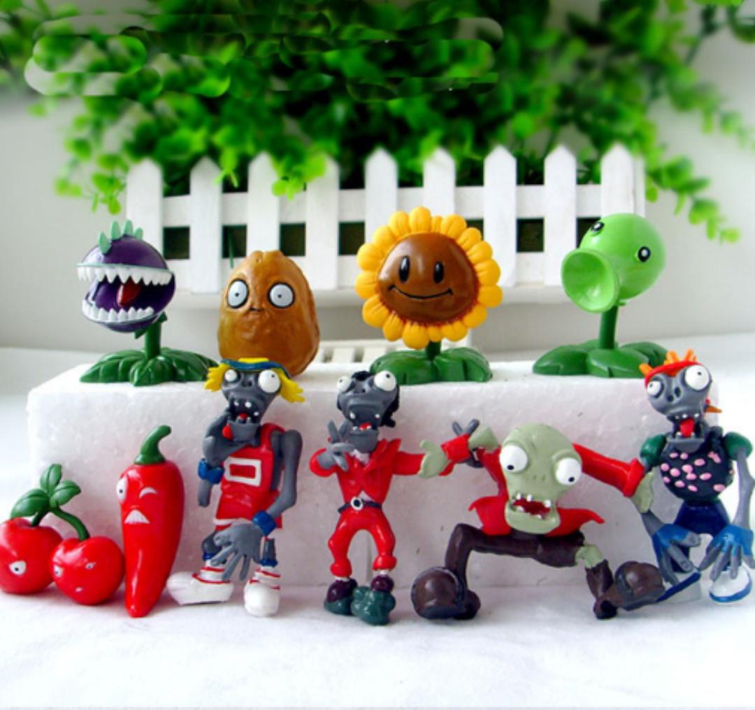 Игрушки Растения против зомби Набор Растения против зомби Plants vs zombies 10 фигурок