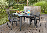 Набір садових меблів Samanna Lima Dining Set зі штучного ротанга ( Allibert by Keter ), фото 10
