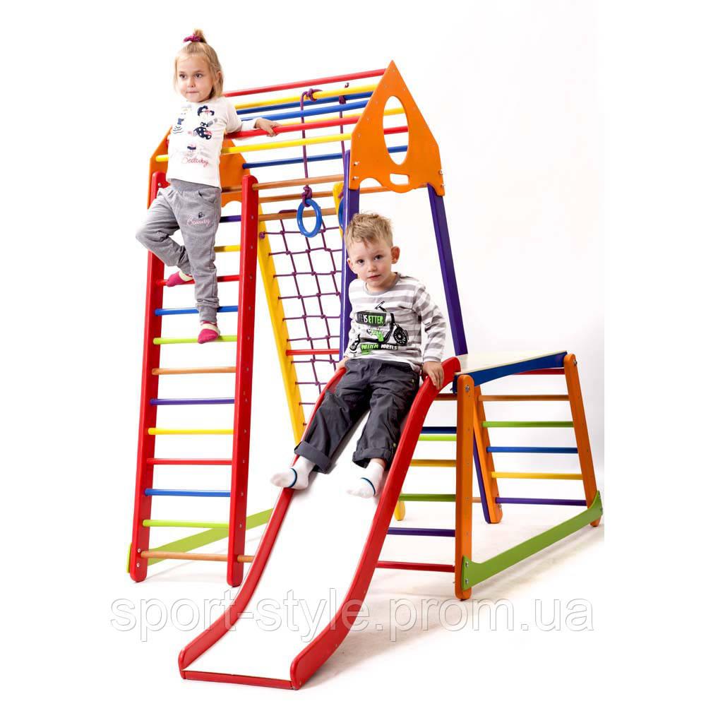 Детский спортивный комплекс  BambinoWood Color Plus 1-1 SportBaby