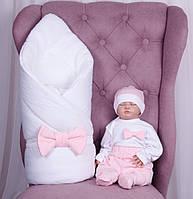 Зимний набор для новорожденных на выписку Classic Girl (5 предметов)