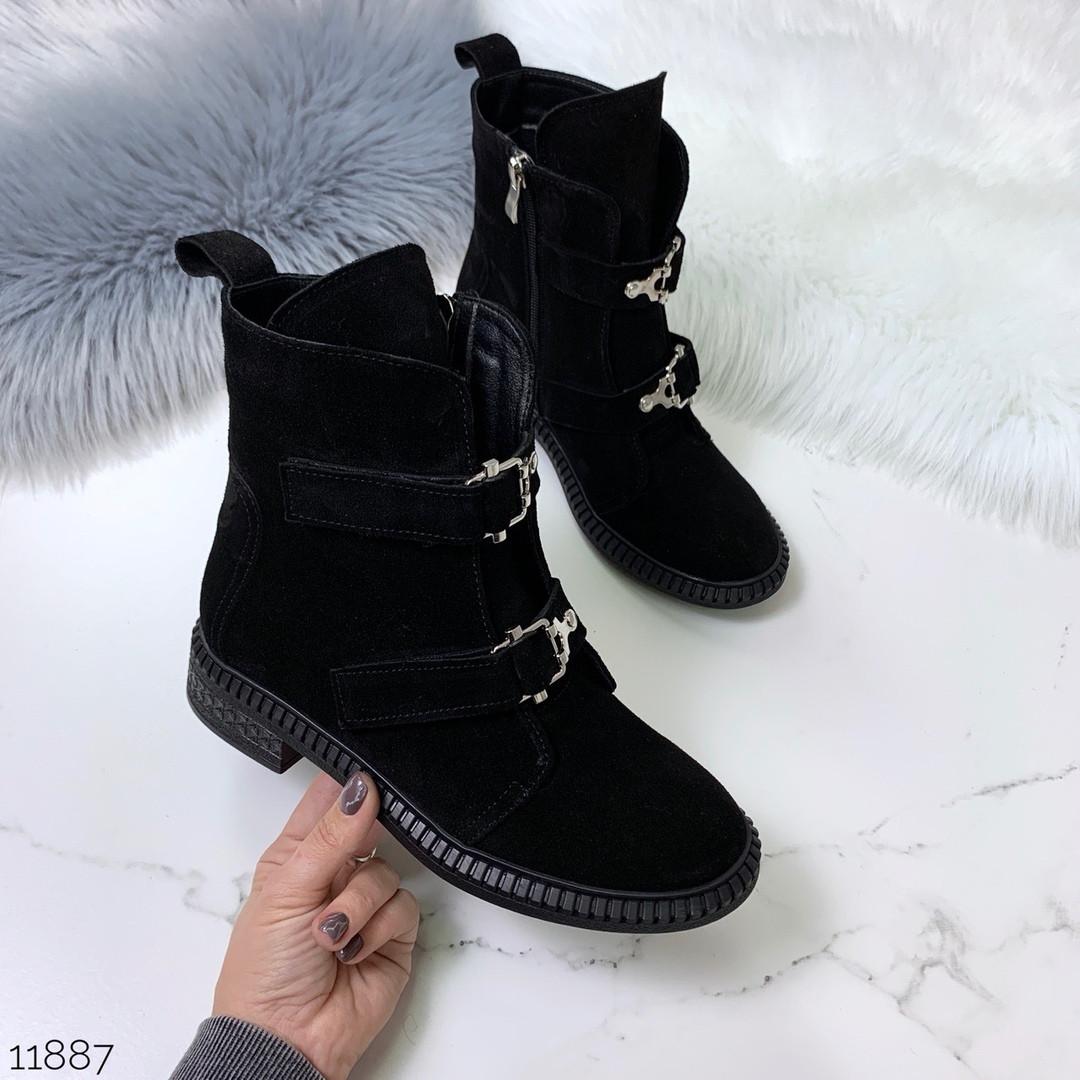 Ботинки без каблука осень