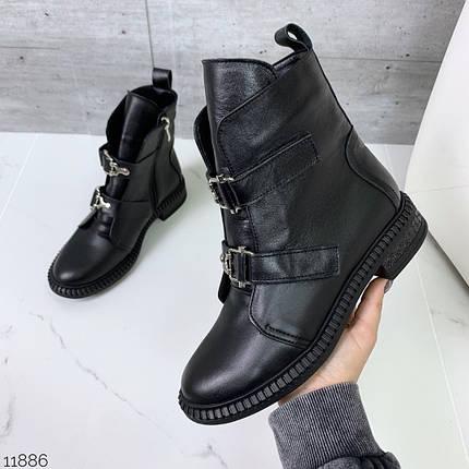 Ботинки женские осень без каблука, фото 2