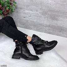 Ботинки женские осень без каблука, фото 3