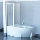 Штора для ванн подвижная Ravak VSK2 Transparent двухэлементная, фото 2