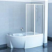 Штора для ванн подвижная Ravak VSK2 Transparent двухэлементная