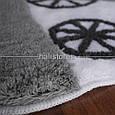 Набор ковриков  для ванной комнаты ALESSIA набор (2 предмета). Белый с цветами, фото 2