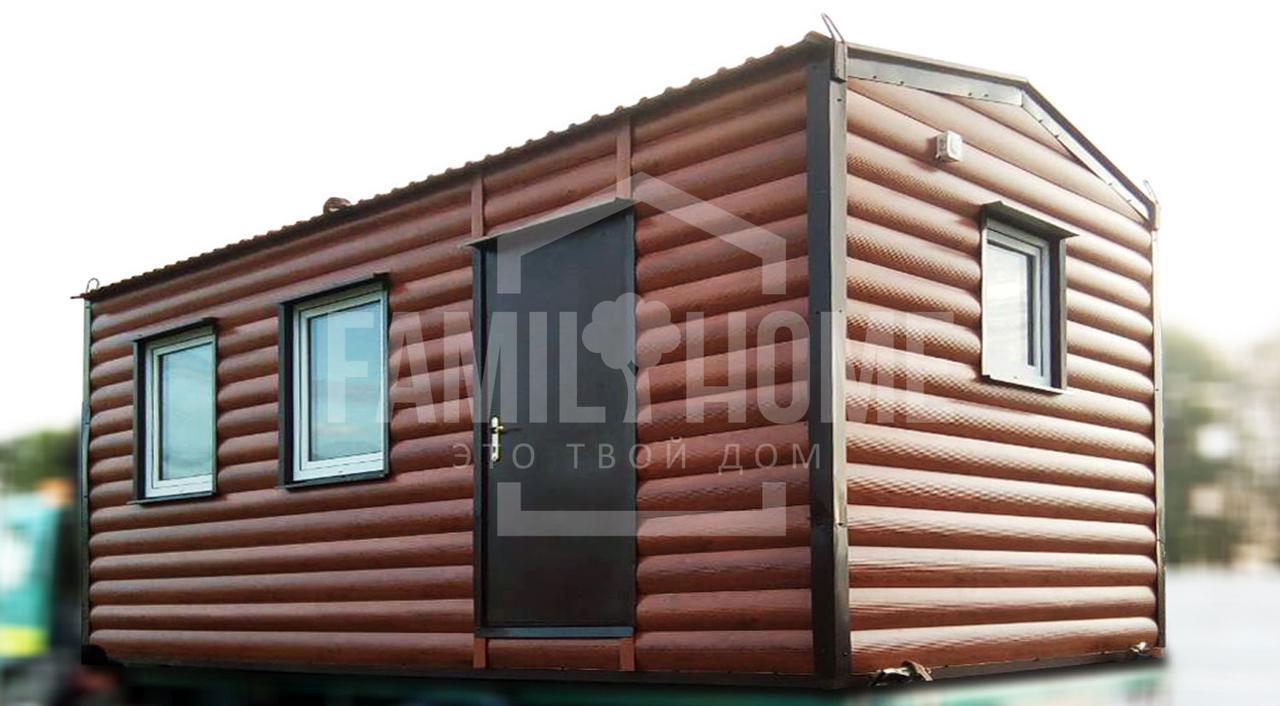 """Мобильный дачный домик """"КЛАССИК 1-18"""" 18м2., на основе цельно-сварного металлического каркаса."""