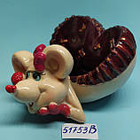 Статуэтка-Пепельница керамическая с символом 2020 года Крысы 5,5*10,5 см, фото 4