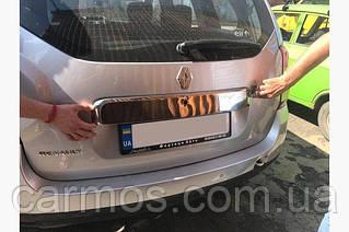 Планка над номером Цельная Renault Duster (дастер) нерж. 2008-2017