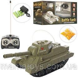 Іграшковий танк 3886A-S на радіоуправлінні, 25-9,5-10 см їздить, стріляє кульками, акумулятор