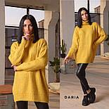 Женский вязаный удлиненный свитер-туника под горло (в расцветках), фото 8