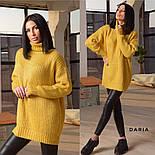 Женский вязаный удлиненный свитер-туника под горло (в расцветках), фото 2