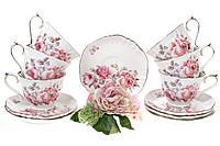 """Сервиз Чайный Фарфоровый """"Версаль"""" 12 предметов (572-102), фото 1"""