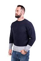 Мужской стильный джемпер двухцветный, фото 1