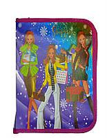 Папка для тетрадий В5 на молнии пластиковая для девочек