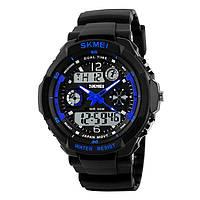 Skmei 0931 s-shock синие мужские спортивные часы, фото 1