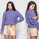 Женский свитер под горло с узорной вязкой 4ddet699, фото 2