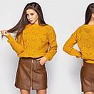 Женский свитер под горло с узорной вязкой 4ddet699, фото 4