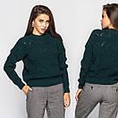Женский свитер под горло с узорной вязкой 4ddet699, фото 6