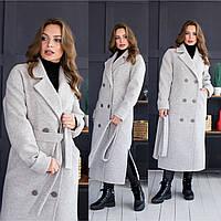 Зимнее женское Пальто длинное на утеплителе 64pal256