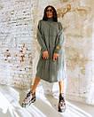 Свободное вязаное платье с высоким воротником и длиной ниже колена 18plt309, фото 5