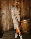 Свободное вязаное платье с высоким воротником и длиной ниже колена 18plt309, фото 6