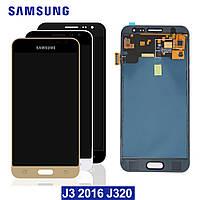 Дисплей сенсор модуль для Samsung Galaxy J3 2016 J320H/DS J320H J320F с регулировкой яркости и логотипом Samsu