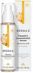 Концентрована сироватка з вітаміном З пробіотиками і гіалуронової кислотою 60 мл Derma E США, офіційний