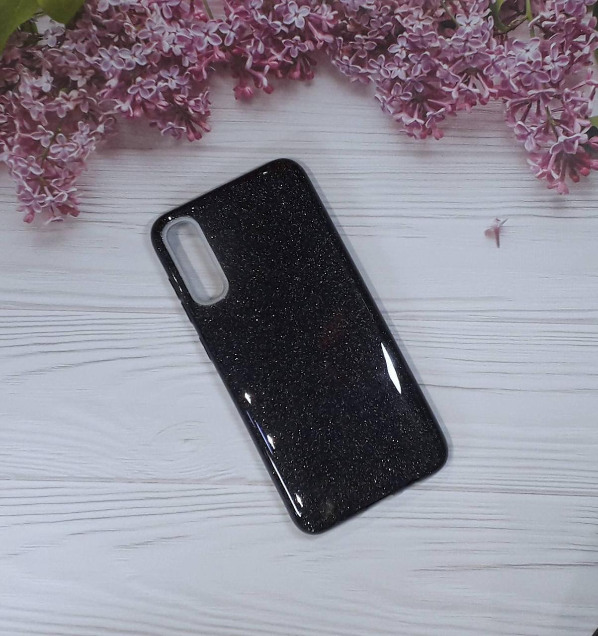 Чехол накладка Glitter на Samsung A70 (2019), Black