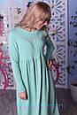 Теплое платье на флисе с завышенной талией и расклешенной юбкой 2plt313, фото 2
