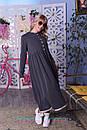 Теплое платье на флисе с завышенной талией и расклешенной юбкой 2plt313, фото 4