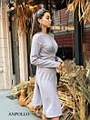 Трикотажное платье с обвязкой на талии и резрезом спереди 17plt321, фото 4