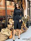 Трикотажное платье с обвязкой на талии и резрезом спереди 17plt321, фото 6
