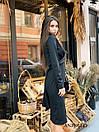 Трикотажное платье с обвязкой на талии и резрезом спереди 17plt321, фото 7