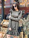 Ангоровое платье с рюшами на плечах и двойной юбкой в оборках 17plt322, фото 3