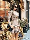Ангоровое платье с рюшами на плечах и двойной юбкой в оборках 17plt322, фото 4