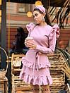 Ангоровое платье с рюшами на плечах и двойной юбкой в оборках 17plt322, фото 5