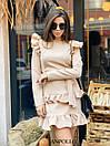 Ангоровое платье с рюшами на плечах и двойной юбкой в оборках 17plt322, фото 6