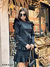 Ангоровое платье с рюшами на плечах и двойной юбкой в оборках 17plt322, фото 7