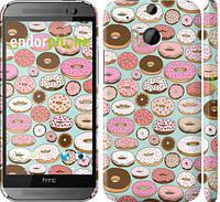 "Чехол на HTC One M8 dual sim Пончики в глазури ""2876c-55"""