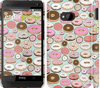 "Чехол на HTC One M7 Пончики в глазури ""2876c-36"""
