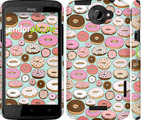 "Чехол на HTC One X Пончики в глазури ""2876c-42"""
